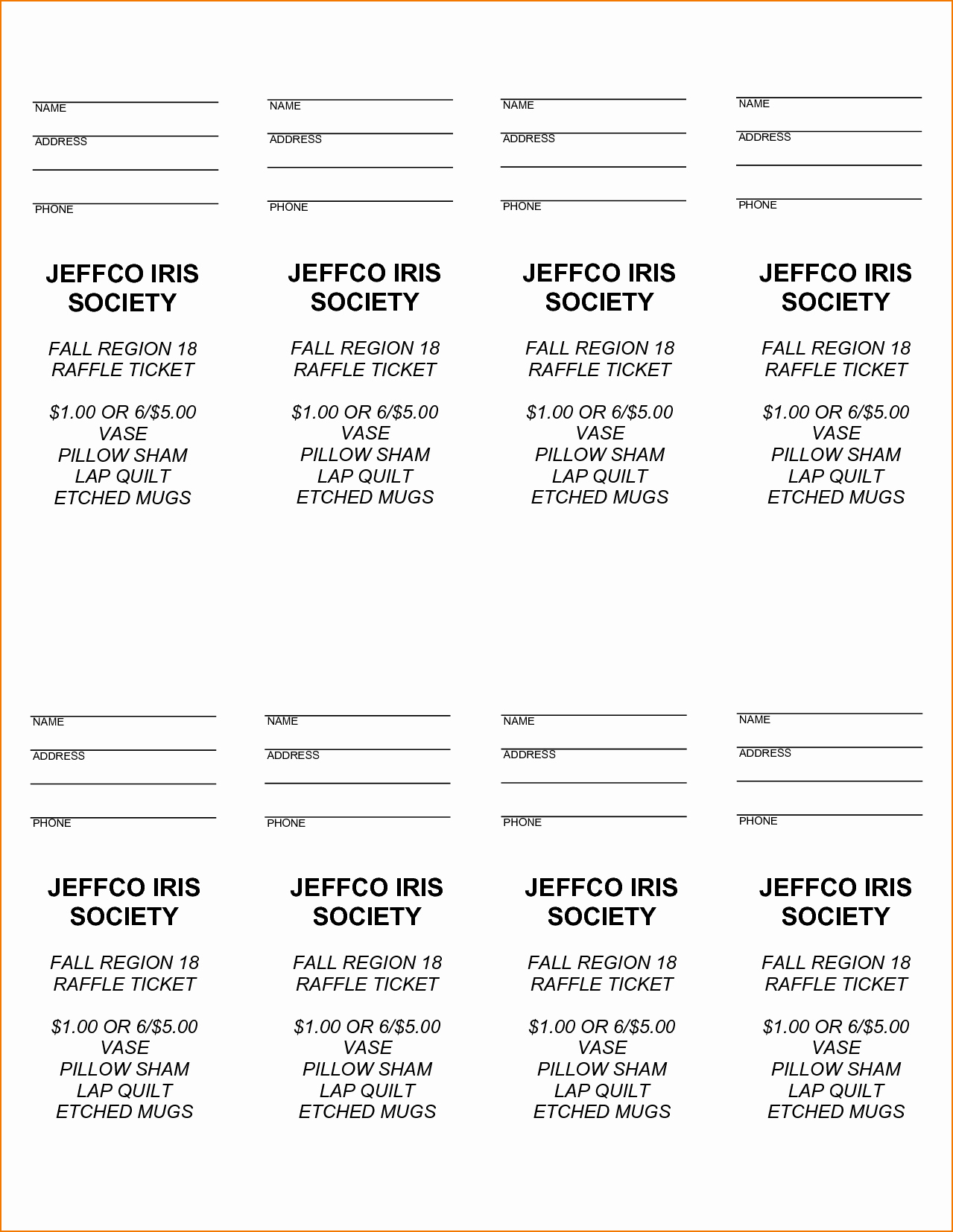 Ms Word Raffle Ticket Template Awesome 3 Raffle Tickets Template Word