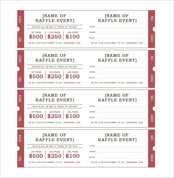 Ms Word Raffle Ticket Template Beautiful Microsoft Ticket Templates event Ticket Template