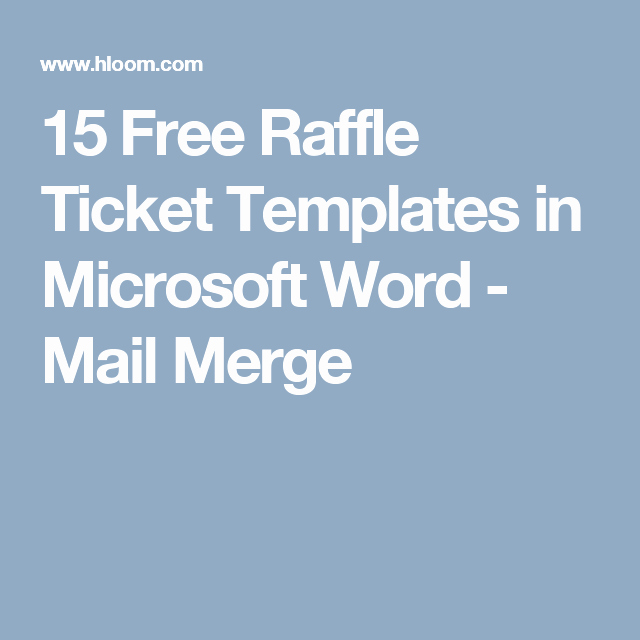 Ms Word Raffle Ticket Template Best Of 15 Free Raffle Ticket Templates In Microsoft Word Mail