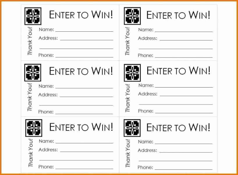Ms Word Raffle Ticket Template Best Of Ticket Template For Microsoft