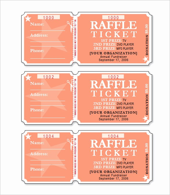 Ms Word Raffle Ticket Template Elegant Make Raffle Tickets Microsoft Word Bertyldouble