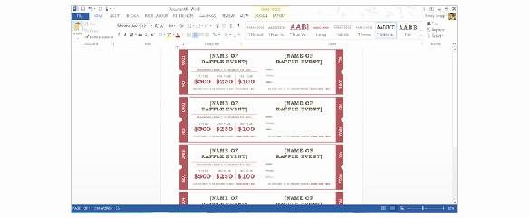 Ms Word Raffle Ticket Template Fresh How to Create Tickets In Microsoft Word – Tutorial