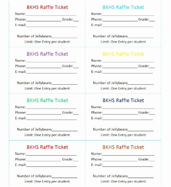 Ms Word Raffle Ticket Template Lovely 12 Raffle Ticket Template Excel Tyiyi