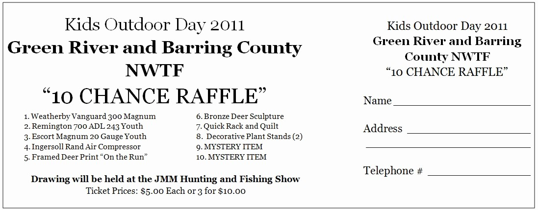 Ms Word Raffle Ticket Template Lovely 6 Best Of Free Printable Raffle Ticket Template