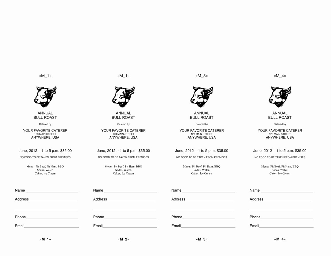 Ms Word Raffle Ticket Template Luxury 4 Microsoft Word Ticket Templates Word Excel Pdf formats
