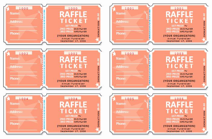 Ms Word Raffle Ticket Template Unique 45 Raffle Ticket Templates