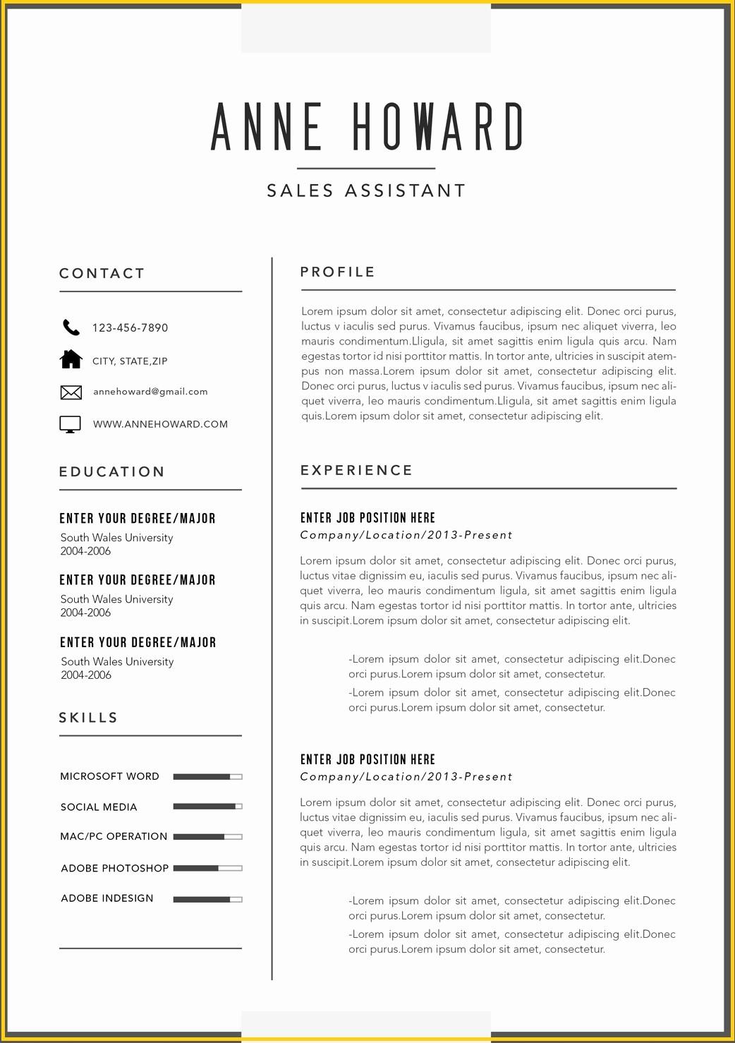 Ms Word Resume Templates Free Best Of Free Modern Resume Templates Microsoft Word