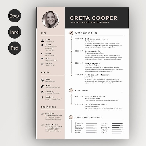 Ms Word Resume Templates Free Inspirational Creative Résumé Templates that You May Find Hard to