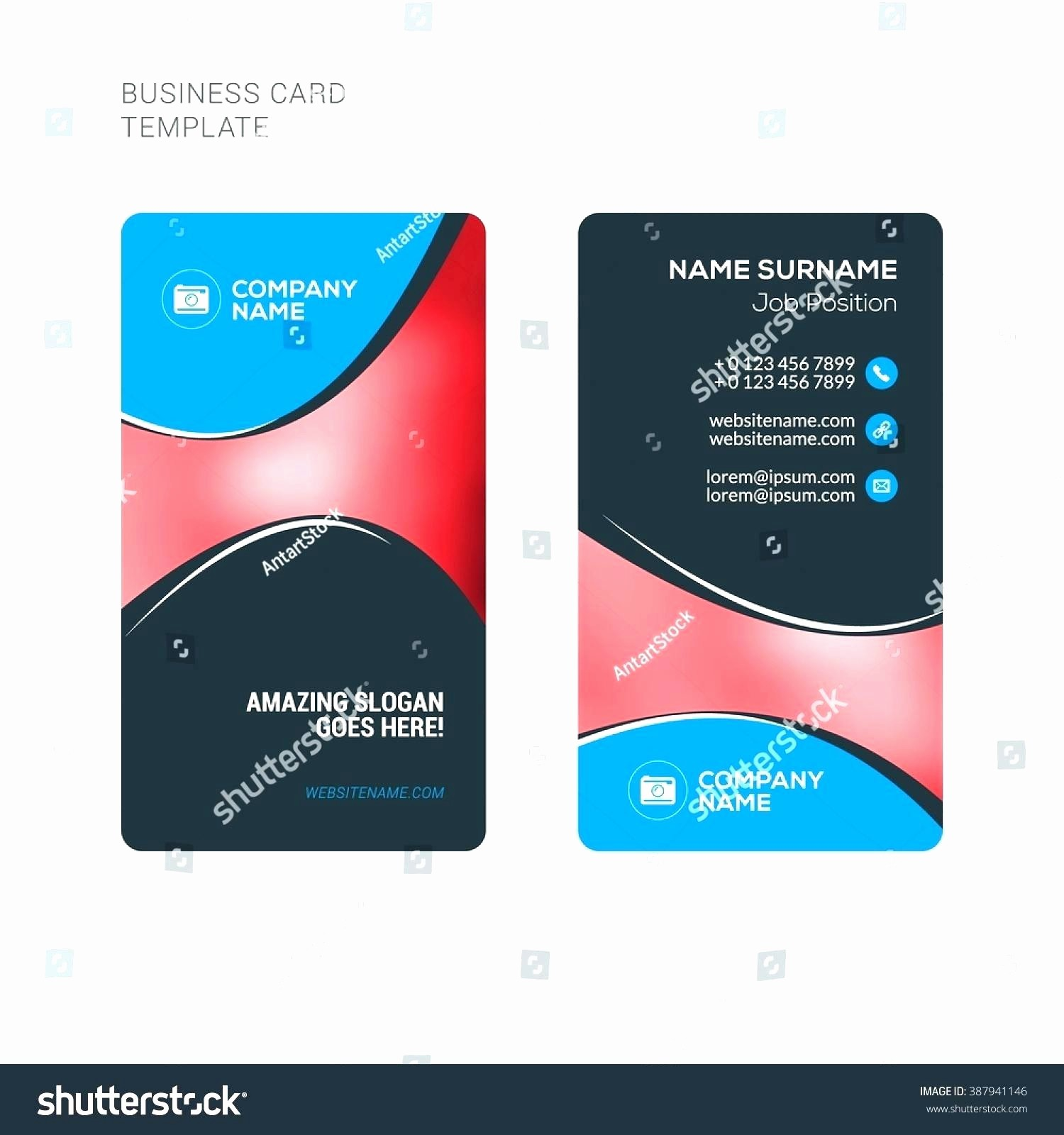 Ms Word Template Business Card Awesome 2 Sided Business Card Template