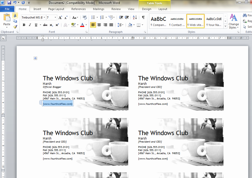 Ms Word Template Business Card Elegant How to Design Business Cards Using Microsoft Word