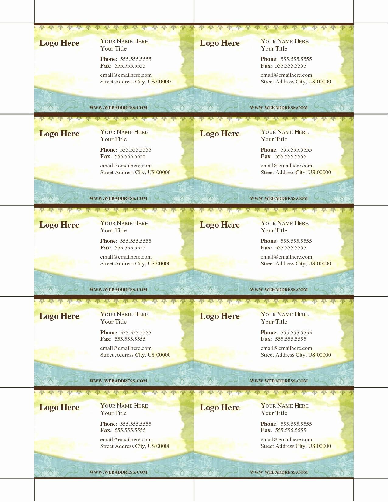 Ms Word Template Business Card Elegant Luxury Blank Business Card Template Microsoft Word