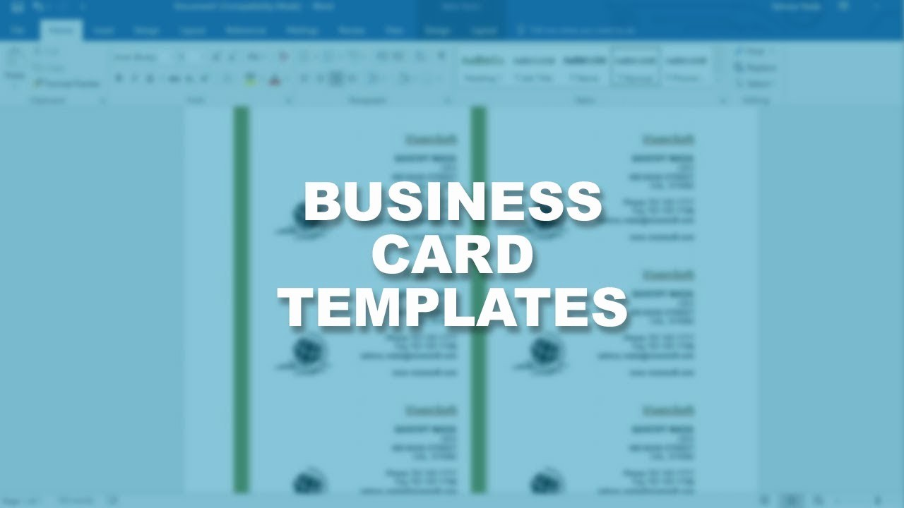 Ms Word Template Business Card Elegant Microsoft Word 2016 Essential Training