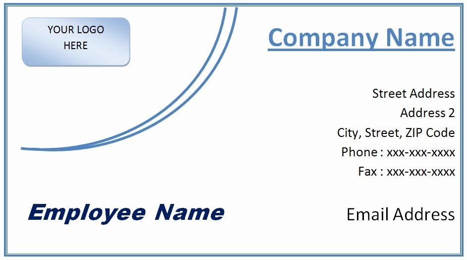 Ms Word Template Business Card Fresh Microsoft Fice Business Card Template Free Word and