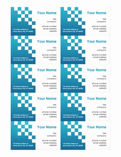 Ms Word Template Business Card Lovely Free Business Card Templates