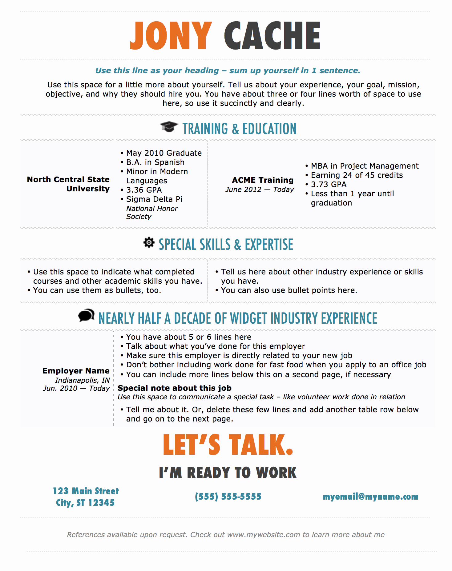 Ms Word Template for Resume Awesome Modern Resume Template for Microsoft Word — Superpixel