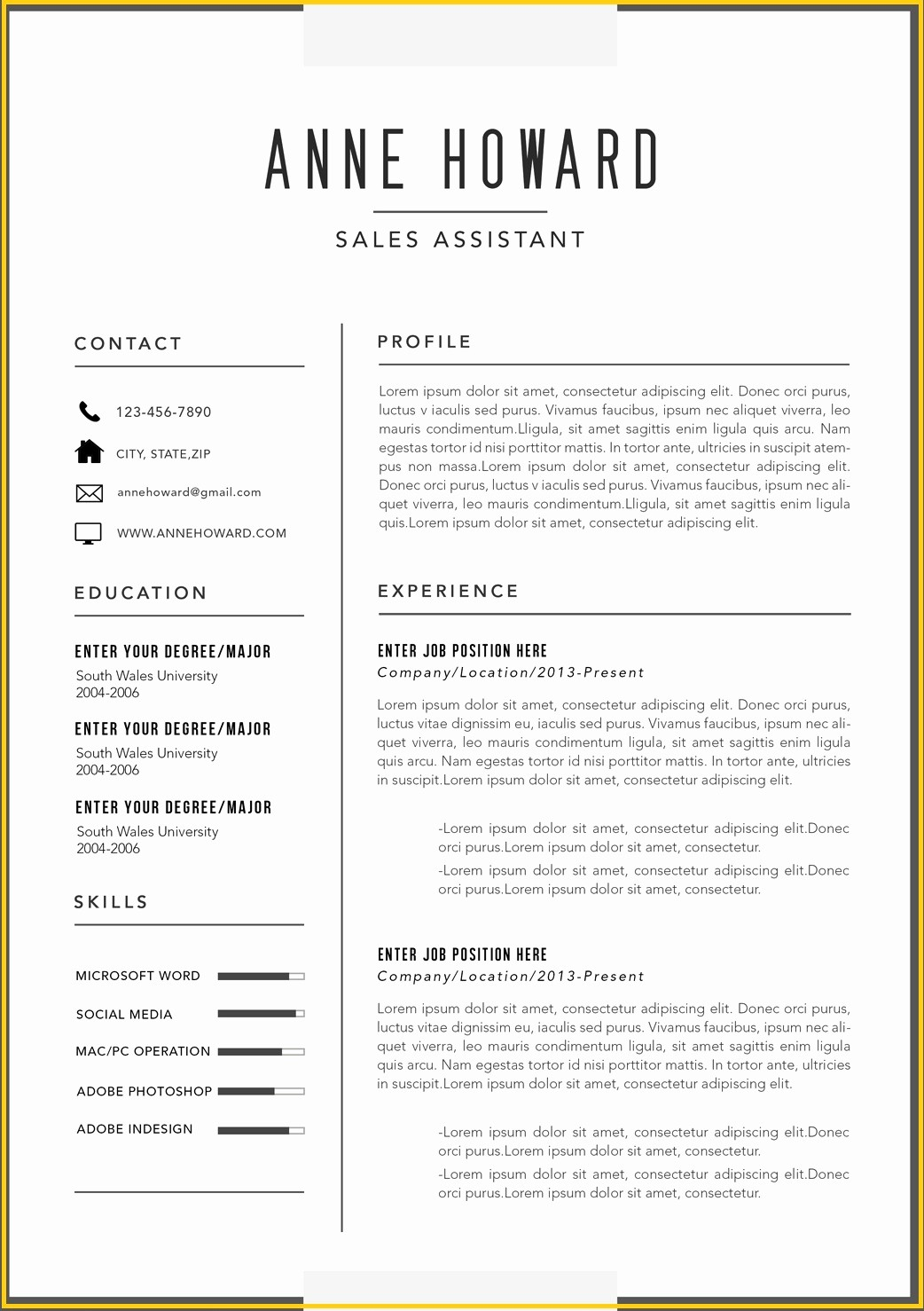 Ms Word Template for Resume Inspirational Free Modern Resume Templates Microsoft Word