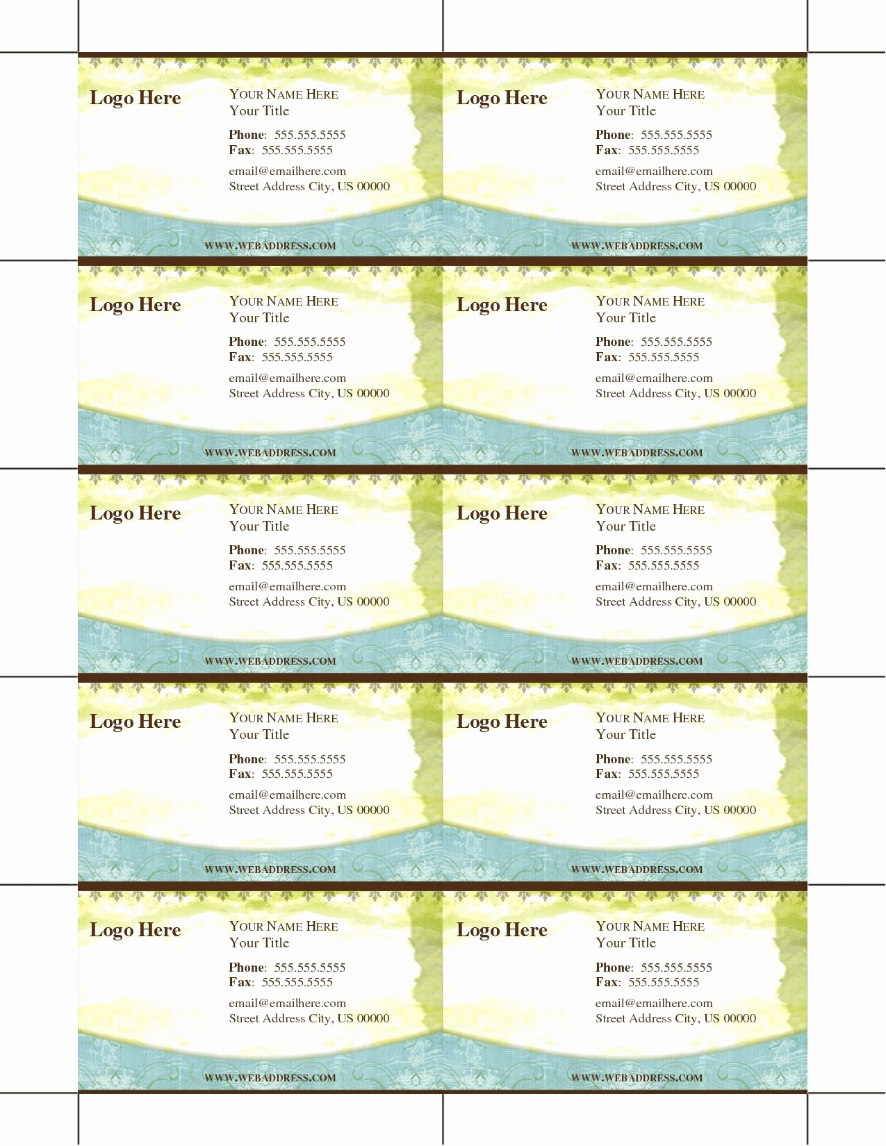 Ms Word Templates Business Cards New Luxury Blank Business Card Template Microsoft Word