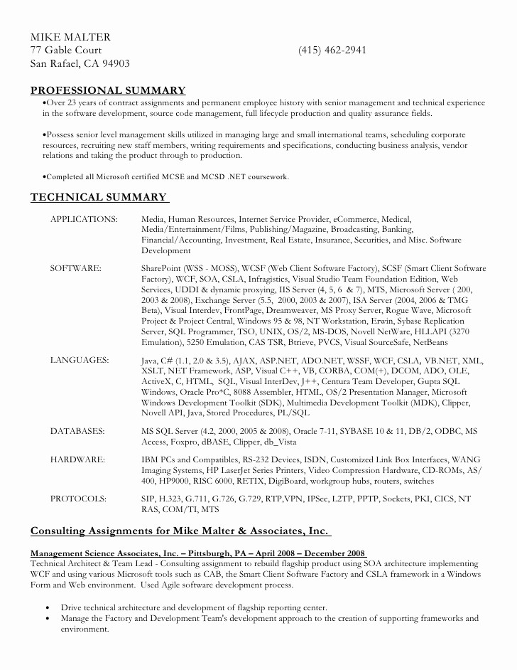 Ms Word Templates for Resumes New Download Resume In Ms Word formatc