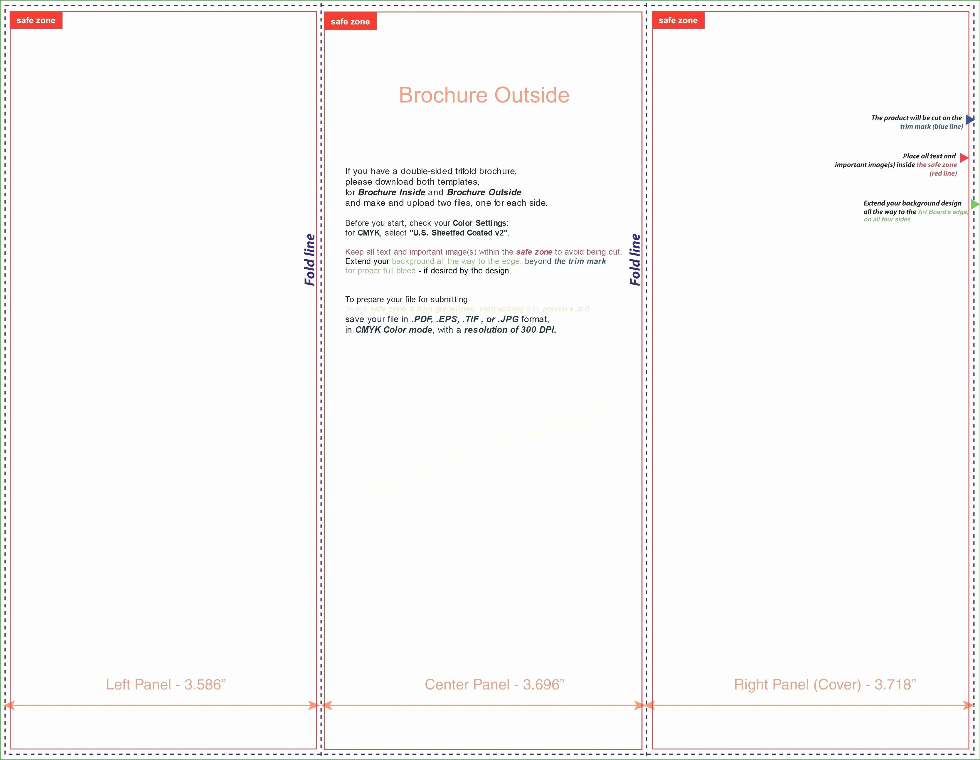 Ms Word Tri Fold Template Fresh Template Tri Fold Template Microsoft Word