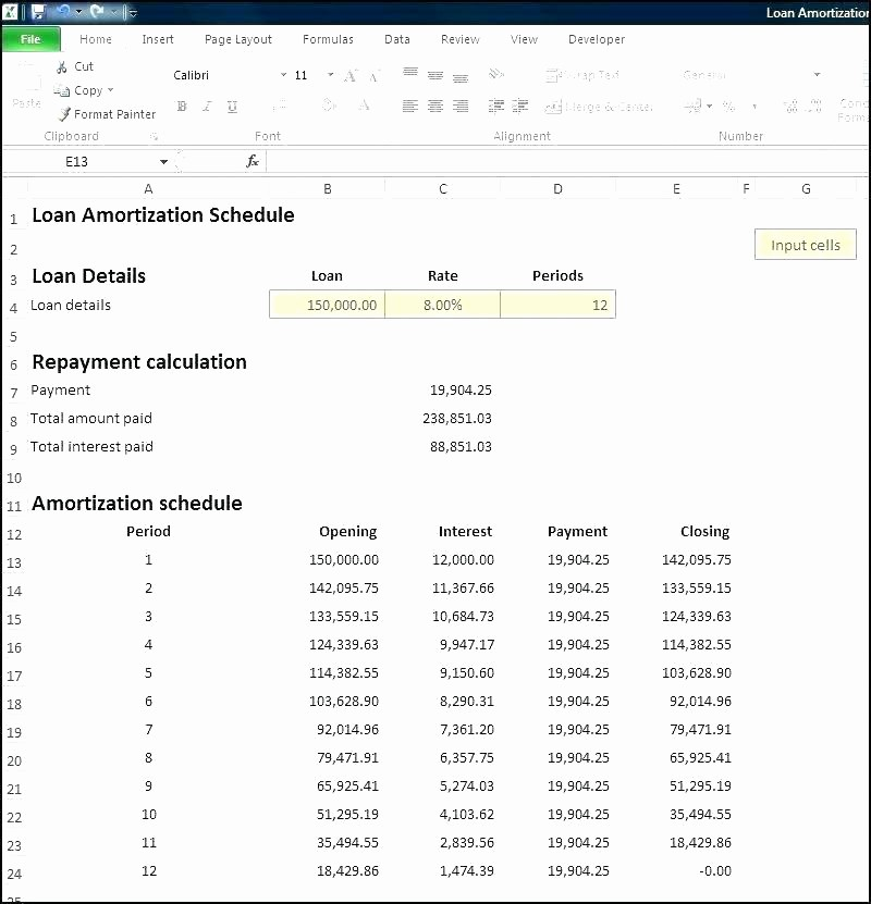 Multiple Loan Repayment Calculator Excel Awesome 91 Lease Amortization Schedule Excel How to Prepare