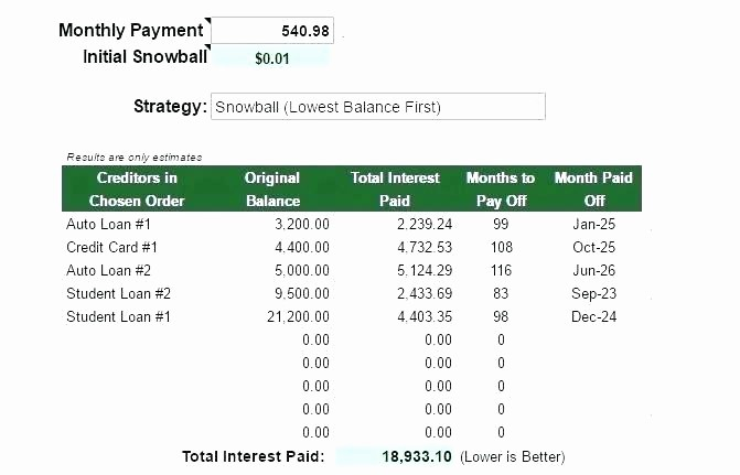 Multiple Loan Repayment Calculator Excel Luxury Credit Card Amortization Excel