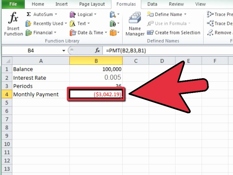 Calculate a Monthly Payment in Excel