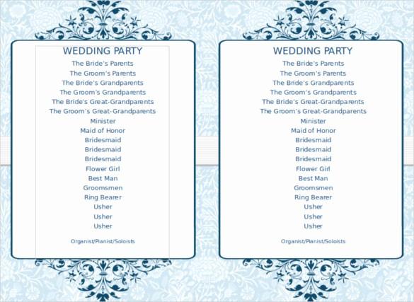 Music event Program Template Word Best Of 8 Word Wedding Program Templates Free Download