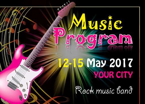 Music event Program Template Word Lovely Music event Program Invitation Template