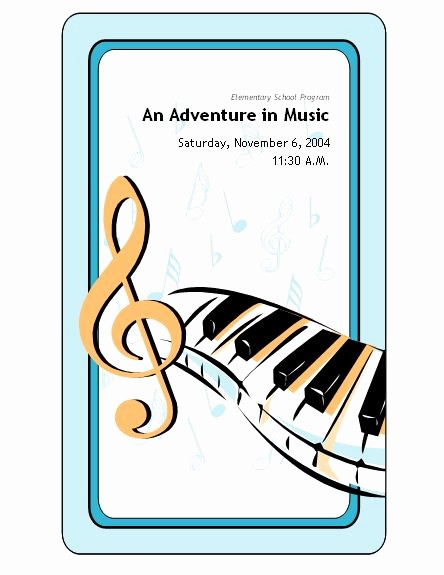 Music event Program Template Word Lovely School Concert event Program Templates