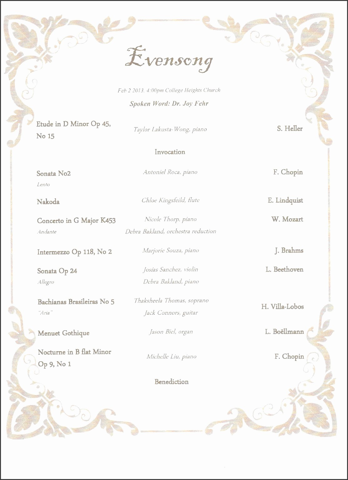 Music event Program Template Word Luxury 10 School Music event Program Template Sampletemplatess