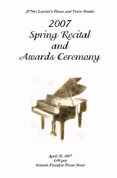 recital program templates