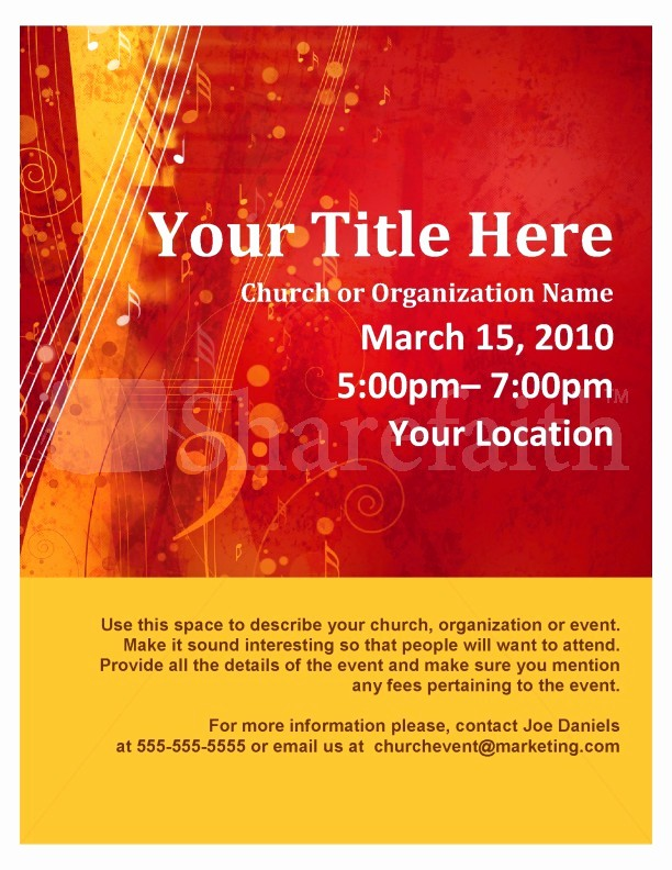 Music event Program Template Word New Worship Flyer
