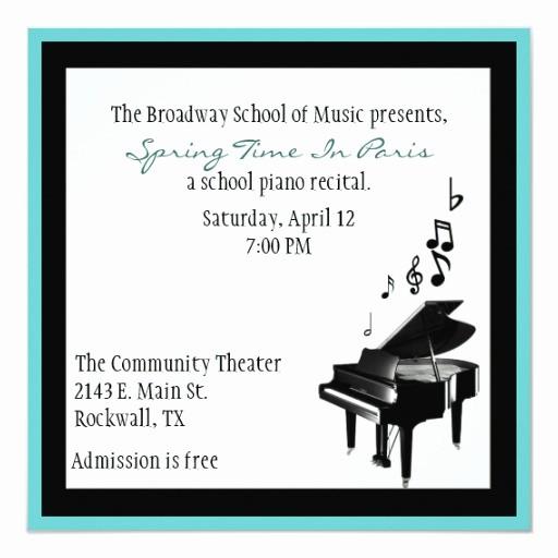 Music Recital Program Templates Free Elegant Elegant Custom Piano Recital Invitation