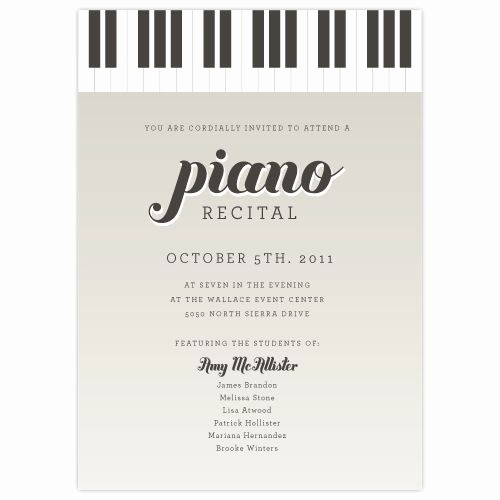 Music Recital Program Templates Free Fresh 17 Best Images About Piano Recital Ideas On Pinterest
