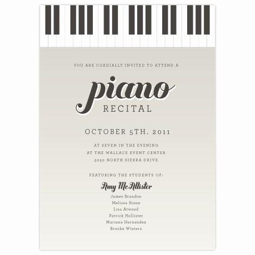 Music Recital Program Templates Free Fresh 17 Best Images About Piano Recital Ideas On Pinterest
