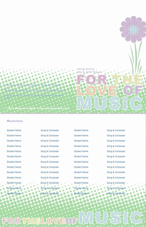 Music Recital Program Templates Free Fresh Blackmoor Let