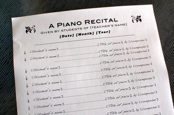 Music Recital Program Templates Free Fresh Piano Recital Program Template 1 Color In My Piano