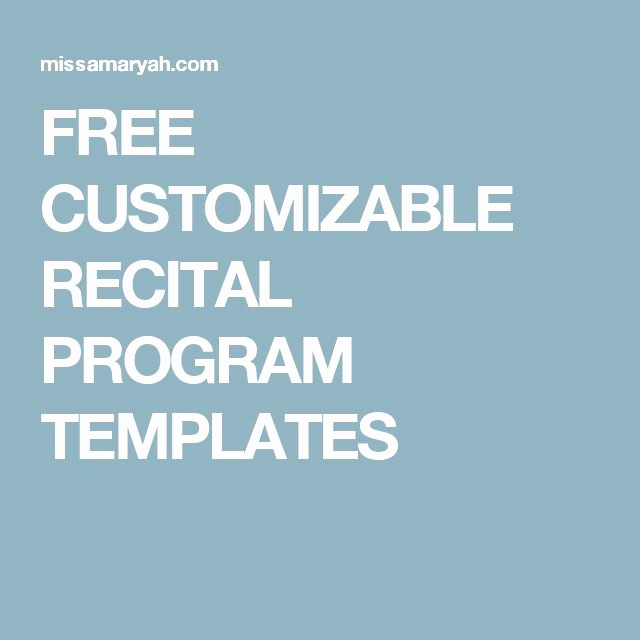 Music Recital Program Templates Free Inspirational 17 Best Images About Teaching Piano On Pinterest