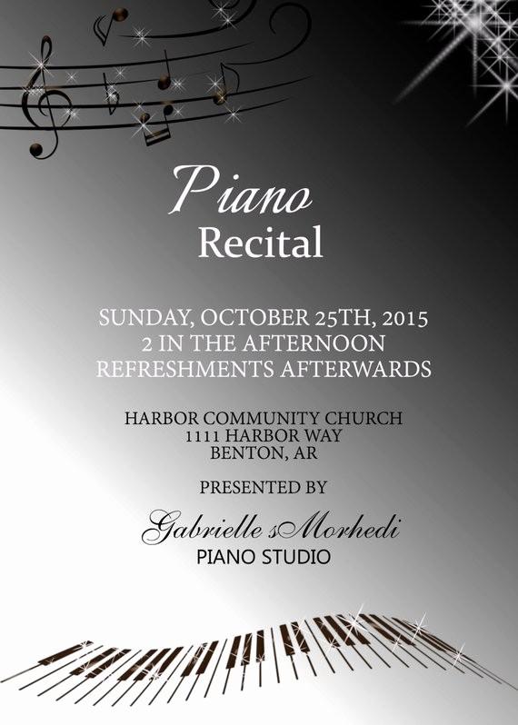 Music Recital Program Templates Free Luxury Piano Recital Invitations Recital Invitation Music Recital