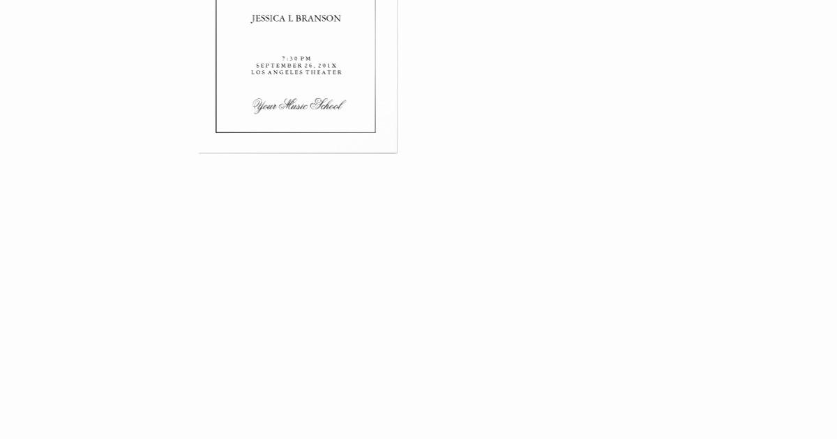 Music Recital Program Templates Free New Black & White Music Recital Program Template Flyer