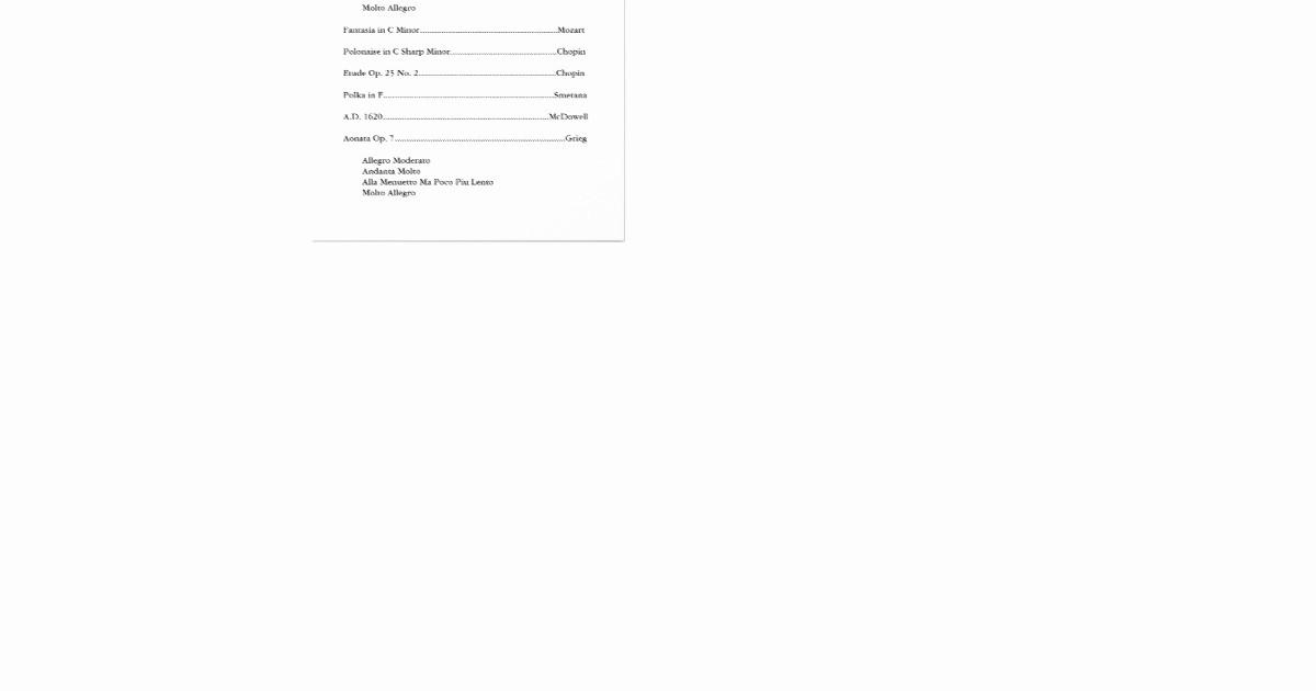 Music Recital Program Templates Free Unique Black & White Music Recital Program Template Flyer