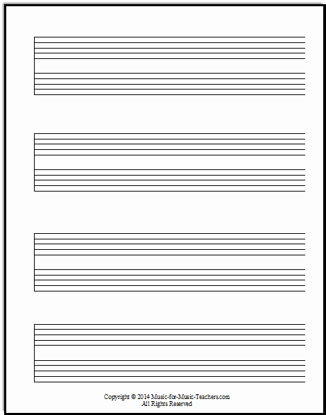 Music Staff Paper with Notes Awesome Staff Paper Pdfs Download Free Staff Paper