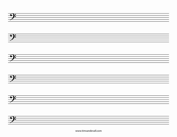 Music Staff Paper with Notes Best Of Blank Bass Clef Staff Paper