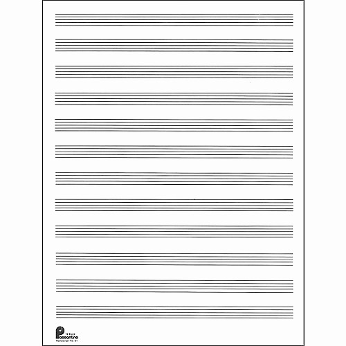 Music Staff Paper with Notes Lovely Music Sales Passantino Manuscript Paper Old 51 12 Stave