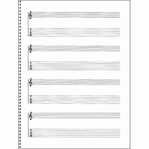Music Staff Paper with Notes New Music Sales Passantino Guitar Manuscript Paper Spiral Pad