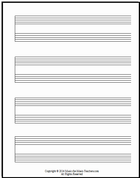 Music Staff Paper with Notes New Staff Paper Pdfs Download Free Staff Paper