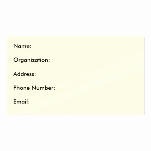 Name Email Phone Number Template Beautiful Name organization Address Phone Number Email Business