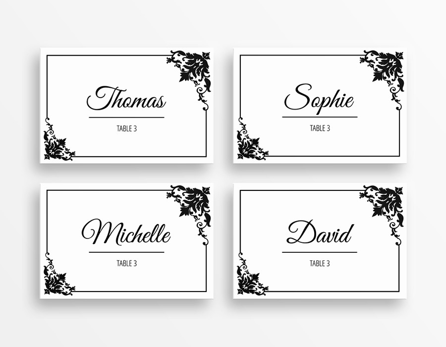 Name Tag Table Tent Template Awesome Table Name Tags Template Printable