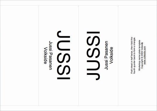 Name Tag Table Tent Template Best Of Workshop Tip Name Plate Template – Volkside