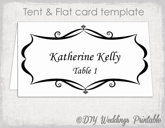 Name Tag Table Tent Template Fresh Place Card Template Tent and Flat Name Card Templates
